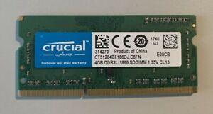 RAM Crucial 4GB SO-DIMM DDR3L 1866 (PC3L 14900) 204-Pin - CT51264BF186DJ