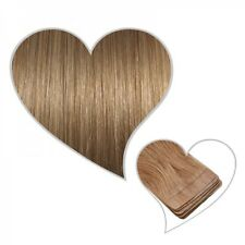 10 Tape-On Extensions caramel blonde#14 35 cm Real Hair Extension Skin Weft
