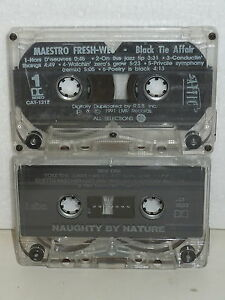 Maestro Fresh Wes Black Tie Affair & Naughty by Nature Rap Music Tape Lot 1991