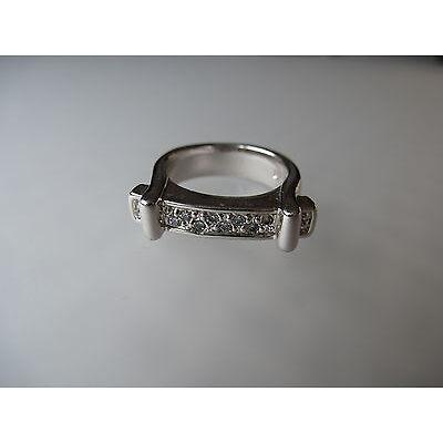 Pierre Lang PL Modeschmuck, silberfarbener Ring mit Steinchen Gr.5
