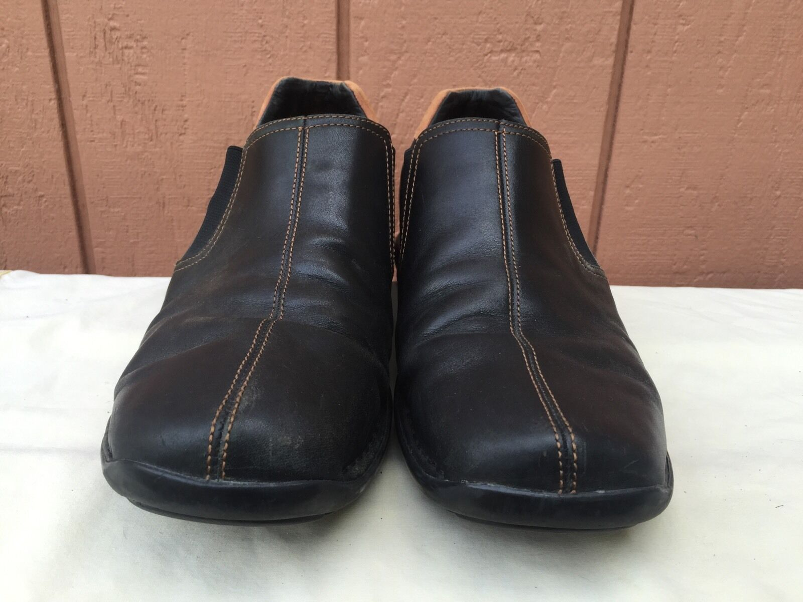 EUC Cole Haan Men's Black Leather Driving Moccasin Loafer Slip On Shoe US 9.5 W