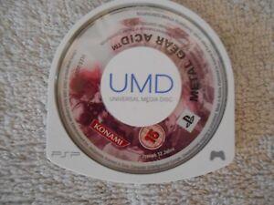 Metal-Gear-Acid-Sony-PSP-PlayStation-Portable-UMD-disc-Konami-juego-Game-1a-bien