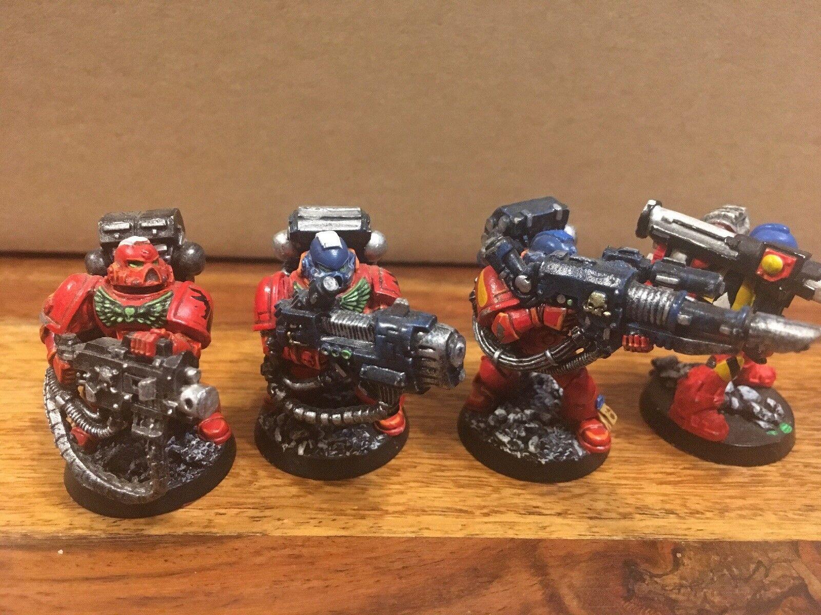 Blood Angles Devastators X4 Metal Parts       Painted warhammer 40k OOP b37dc4