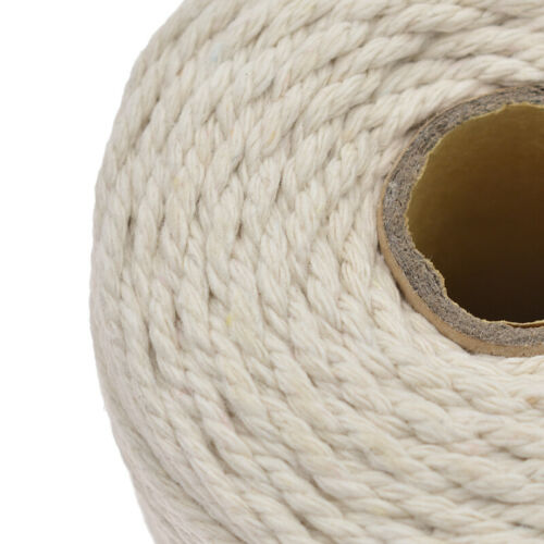 Long Beige Macrame Rope Cotton Twisted Cord Hand Craft String DIY 200m//400m