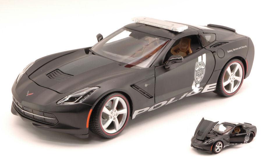 Corvette StinGris  2014 Safety Service And Security Matt Black 1:18 Model MAISTO | Les Produits De Base Sont