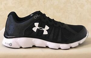 Men UA Under Armour Micro G Assert 6 Running Training Shoes Black ... bfa2e47d9c0