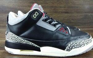 new arrivals f533f 577ab Details about Nike Air Jordan III 3 Retro 2001 BLACK CEMENT GREY WHITE  136064-010 sz 10 og