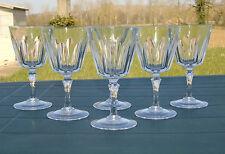 Cristal d'Arques? - Service de 6 verres à eau en cristal, côtes plates