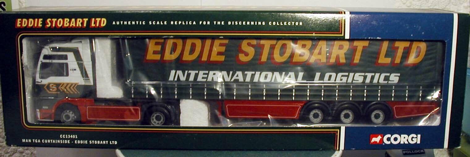 Corgi moderno Camion Man Tga Curtainside Eddie Stobart CC13401