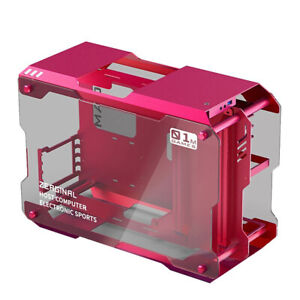 Aluminum Alloy Frame Tempered Glass Mini Computer Case Gaming ATX...