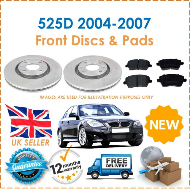 For E60 E61 525D 2004-2007 Two Front Vented 310MM Brake Discs /& Brake Pads Set