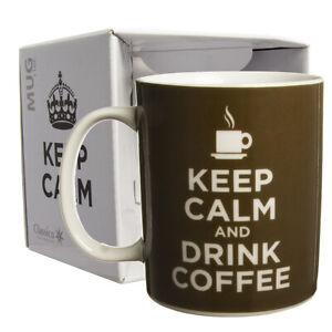 Keep Calm Funny Novelty 11oz Ceramic Coffee Mug Porcelain Humor Cup In Gift Box
