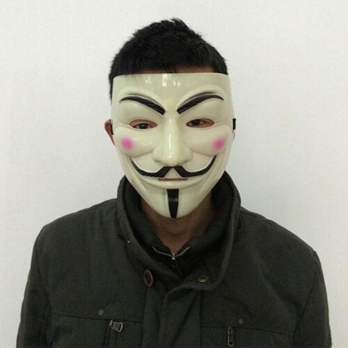 New Halloween Cosplay Mask V for Vendetta Costume Guy Fawkes Party Dress Mask