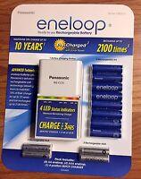 Panasonic Eneloop Rechargeable Battery Kit W/ 8 Aa, 4 Aaa & Charger - Brand