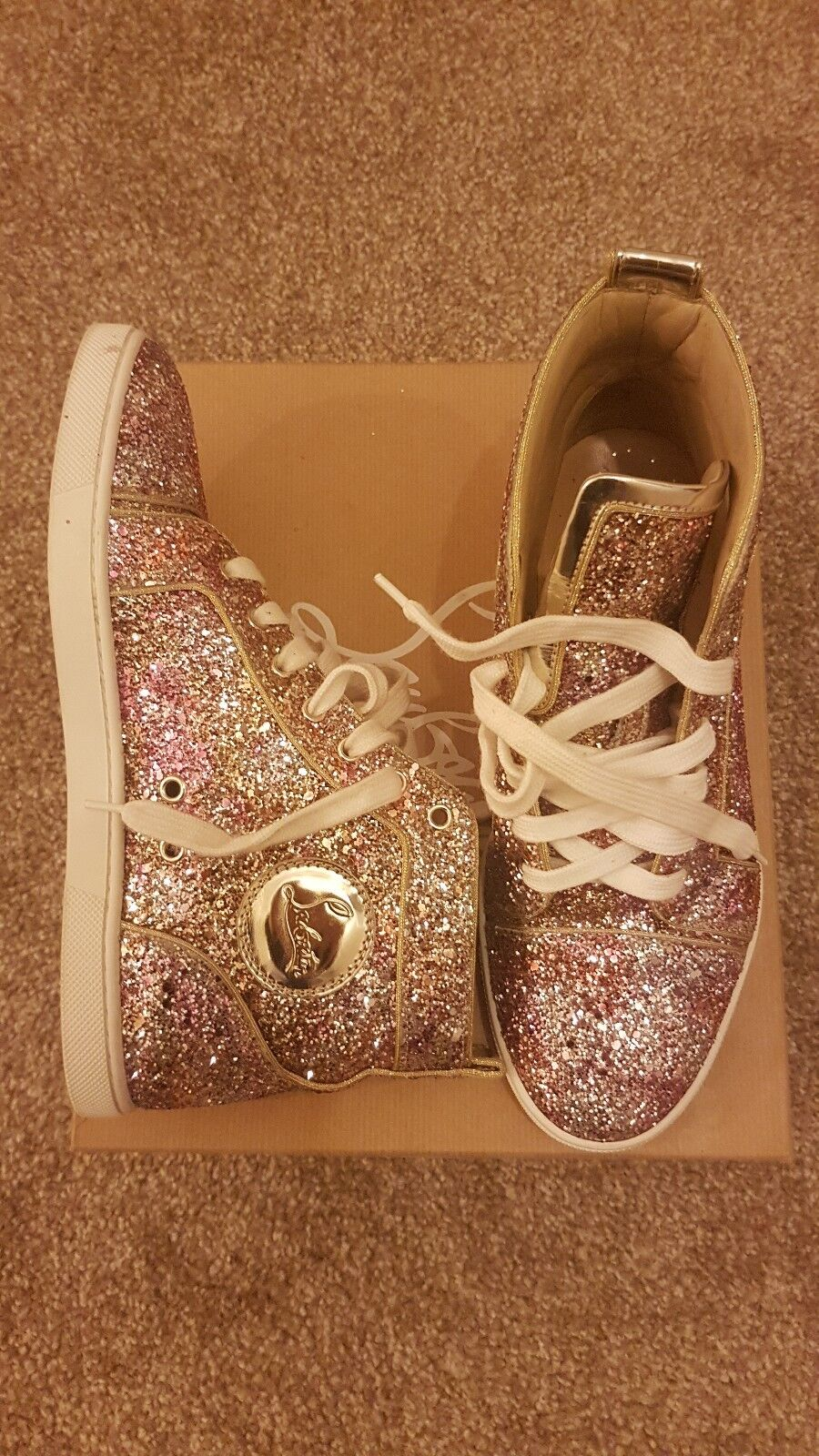 Christian Louboutin Glitter High Tops