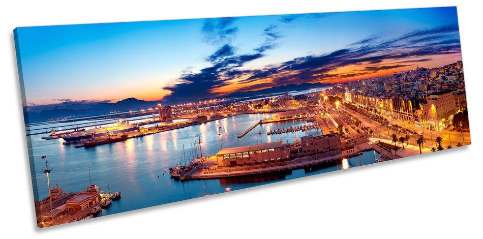 Cagliari Harbour Italia Horizonte panorama De Lona Pa rojo  Arte panorama Horizonte enmarcado impresión 2e8f49