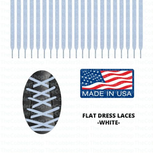 2 PAIRS Premium Unisex MADE in USA All Sizes FLAT DRESS Shoelaces Lace Strings