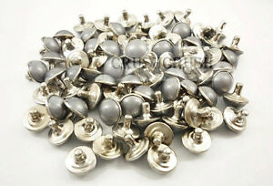 40Set-25-64-034-10mm-Acrylic-Smoking-Grey-Pearl-Rivet-Snap-Button-Dome-Deco-074RV