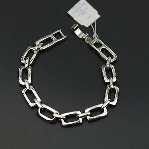 NWT-Lia-sophia-signed-jewelry-simple-silver-tone-bracelet-polished-tennis-bangle
