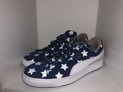 brand new 7a344 8d811 Mens Puma Suede Red White And Blue Stars Shoes | eBay