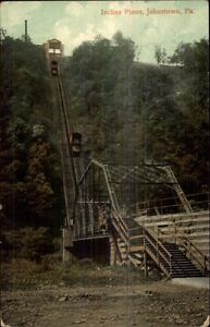 Johnstown-PA-Incline-RR-Plane-c1910-Postcard-FANCY-CANCEL-FROM-WORCESTER-NY