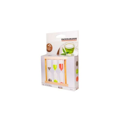 FACKELMANN Hourglass for tea The Timer Infusion 3-5-8 minutes Sand Colorful