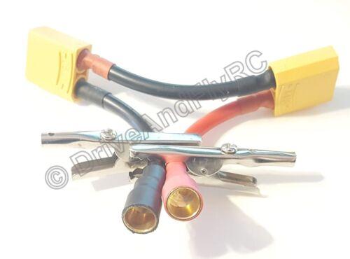 XT90 Series connector 10 AWG gauge wire XT-90 Series LiPo 8mm Castle 8 mm Plug