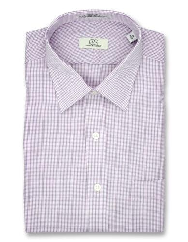 Cooper /& Stewart Big /& Tall Non-Iron Graph Check Spread Collar Dress Shirt Berry