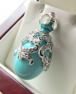 Engagement & Wedding Bridal & Wedding Party Jewelry Superb Egg Pendant Handmade Of Enameled Solid Sterling Silver 925 With Cross Special Summer Sale