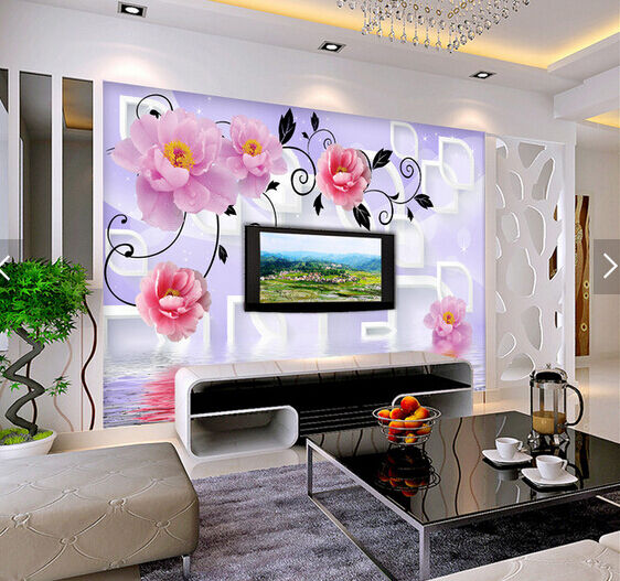 3D lila Blossom Art 3945 Wall Paper Wall Print Decal Wall AJ WALLPAPER CA