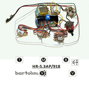 bartolini hr 5 3ap pre wired 3 band eq active passive preamp  image is loading bartolini hr 5 3ap pre wired 3 band