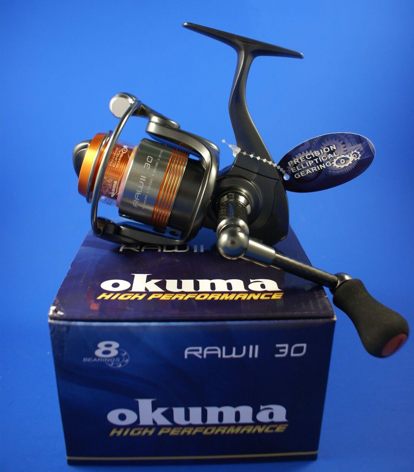 Okuma RAW II 30 FD 7+1BB 5.0:1 Drag 43968 Front Drag 5.0:1 Fishing Reel e3967e