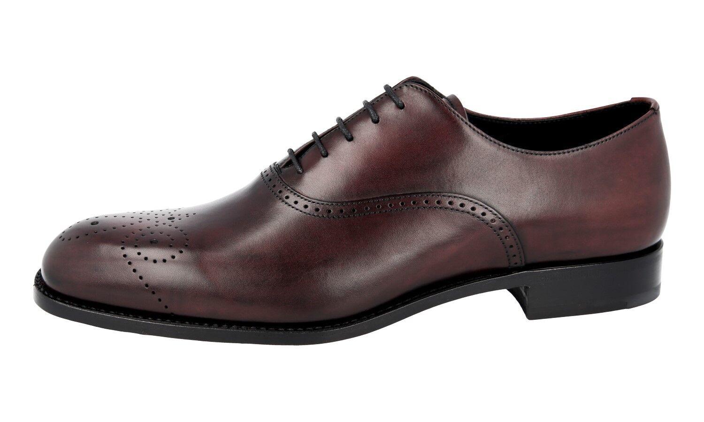 AUTH LUXURY PRADA OXFORD SEMI BROGUES scarpe 2EB139 2EB139 2EB139 Marroneee US 7.5 EU 40,5 41 244c22