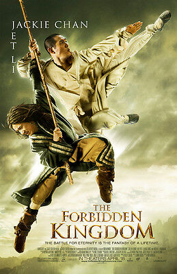 THE FORBIDDEN KINGDOM MOVIE POSTER 2 Sided ORIGINAL FINAL 27x40 JACKIE CHAN