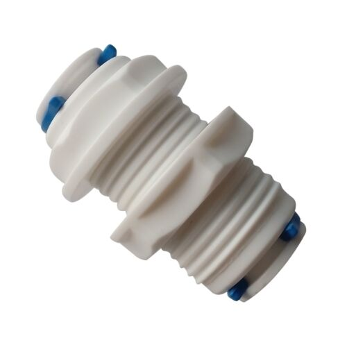 "Ro Units 5PCS 1//4/"" Tube OD Quick Connector White Fittings Bulkhead for Dispense"