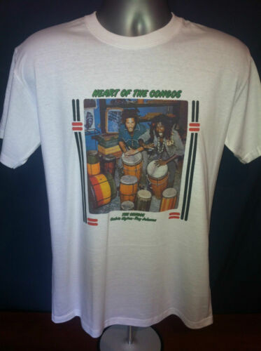 Lee Scratch Perry collaborators Heart of CONGOS REGGAE T-SHIRT