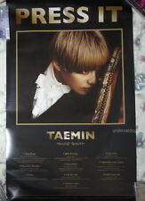 """SHINee Tae Min Vol. 1 Press It Taiwan Promo Poster Ver.B (TAEMIN) 30""""X18"""""""