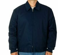 Mens Work Jacket Mechanic Style Zip Jacket Navy Jh Work Wear Brand
