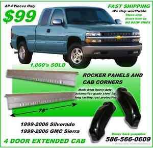 Chevrolet Silverado Gmc Extended Cab Rocker Panels And Cab Corners 1999 2006 Ebay