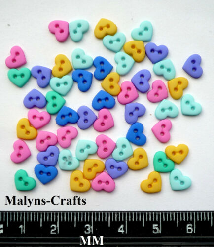 FLIRT HEARTS MINI Craft Buttons Love Small Baby Doll Valentine CLEARANCE SALE