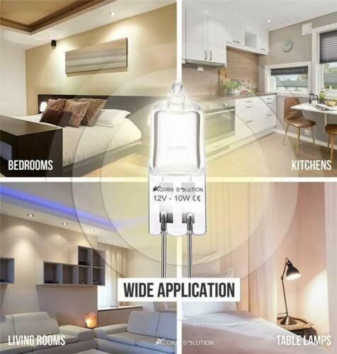 Lots 10pcs G4 10W Watt 12V Halogen Light Bulb Base JC Type Bulbs Lights Lamp Kit