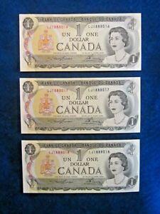 CANADA-CONSECUTIVES-1973-ONE-DOLLAR-ALL-GEM-U-N-C-CONDITION