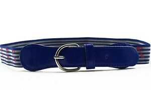 Children-kid-Boys-Blue-Anchor-Sailor-Casual-Pants-Adjustable-Stripe-Elastic-Belt
