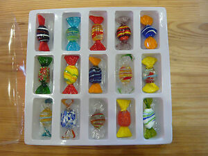 bonbons-candies-en-verre-colore-MURANO-glass-15-pieces