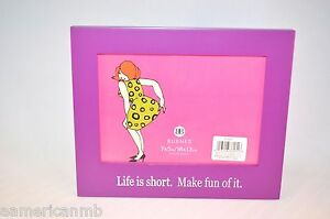Burnes Boston Purple Table Top Photo Picture Frame Life Is Good Make