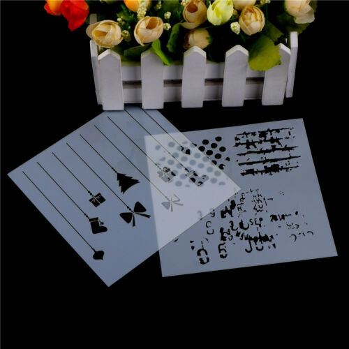 DIY Layering Polka Stencil Wall Paint Scrapbooking Album Embossing Paper Card UR