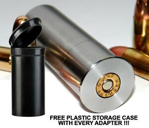 12GA-to-9MM-Luger-Shotgun-Adapter-SMOOTH-BORE-Stainless-Free-Case-amp-Shipping