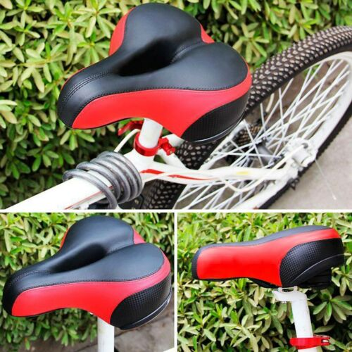Extra Wide Comfort Saddle Bicycle Seat Pad Soft Cushion Mountain Bike Sadd