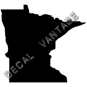 Minnesota-Vinyl-Sticker-Decal-State-MN-Choose-Size-amp-Color