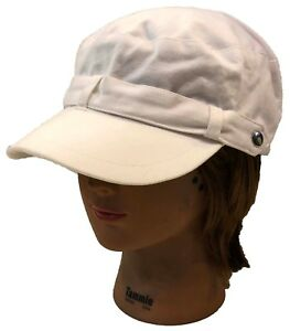 Image is loading 100-Cotton-Lady-Women-Cadet-Fashion-Style-Hat- cefcfce142a